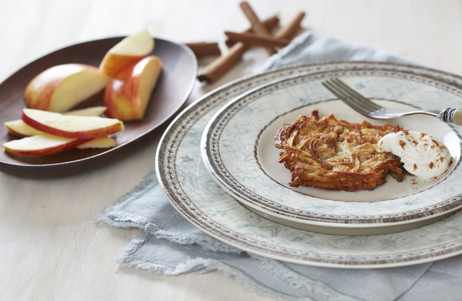 Apple-Cinnamon Dessert Latkes - Breaking Matzo