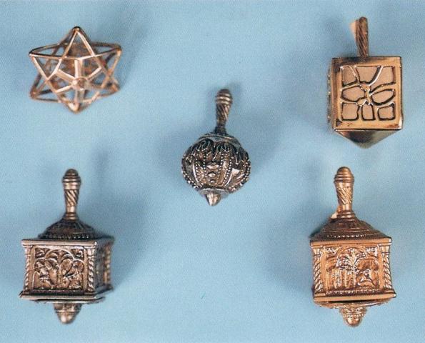 silver dreidels