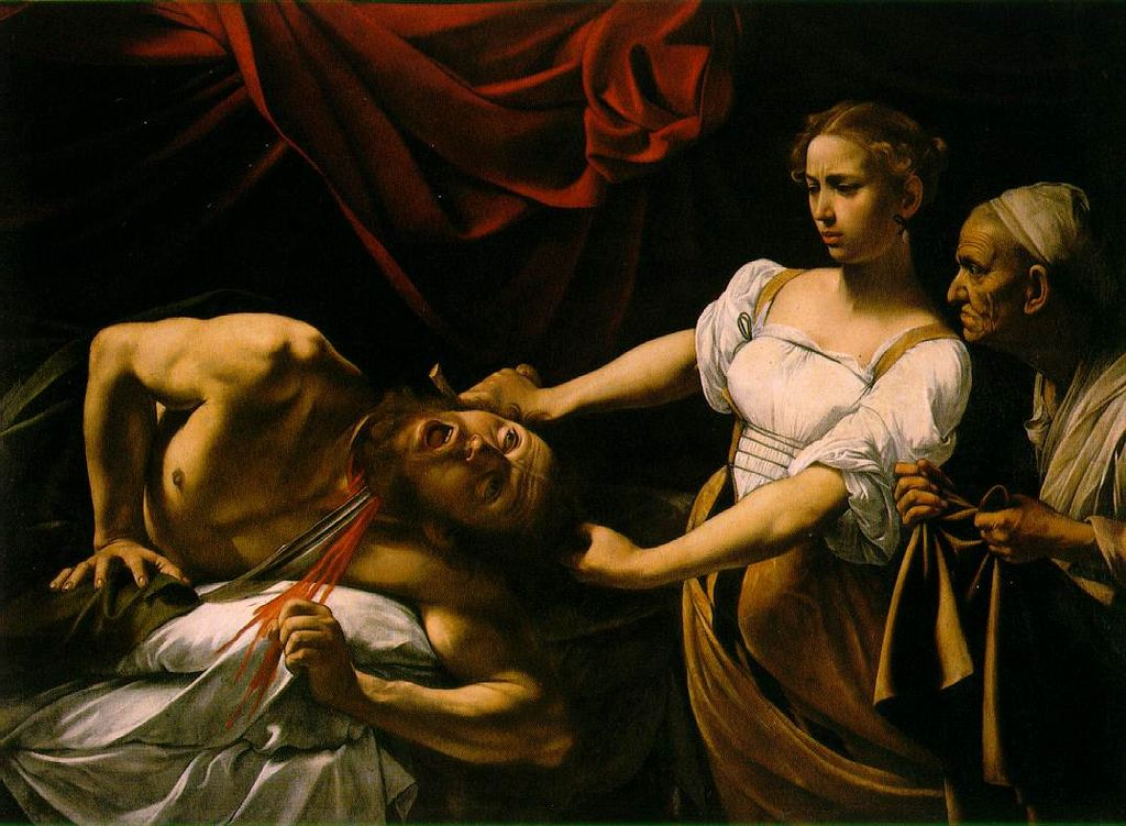 Judith beheading Holofernes. Artist: Carvaggio, c. 1598-1599