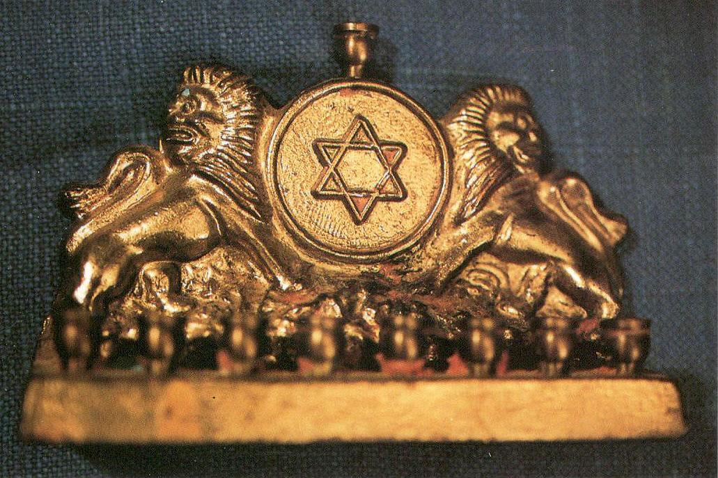 brass menorah miniature
