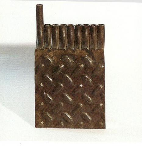 Steel menorah