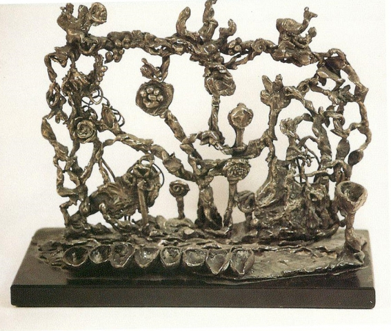 Sterling bronze menorah