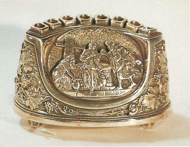 miniature silver travel menorah