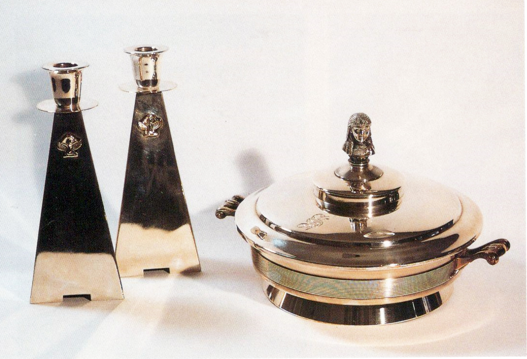 Passover Dish and Candlesticks