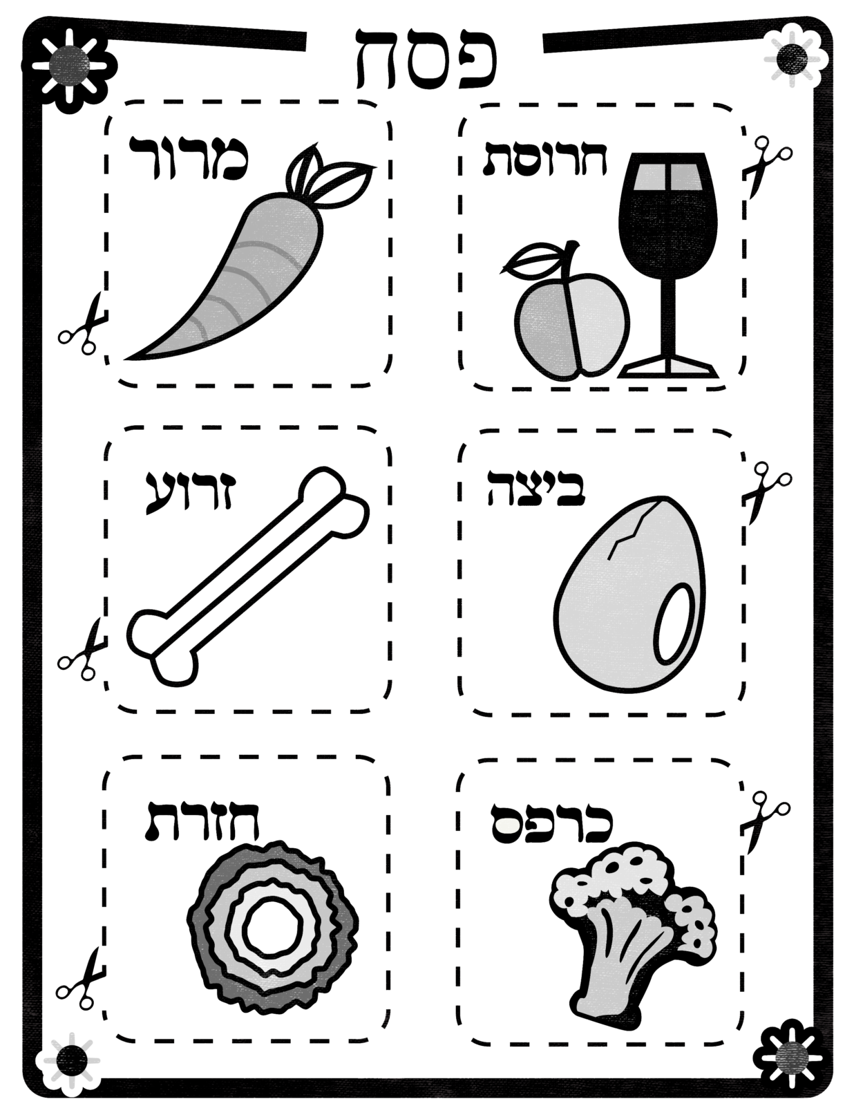 SederPlateStencils_hebrew