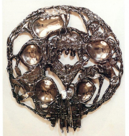 Sterling/Bronze Seder Plate