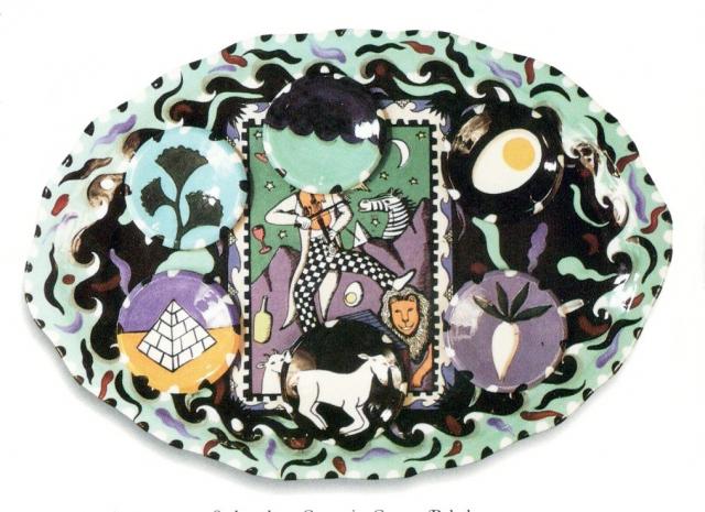 Ceramic Seder Plate