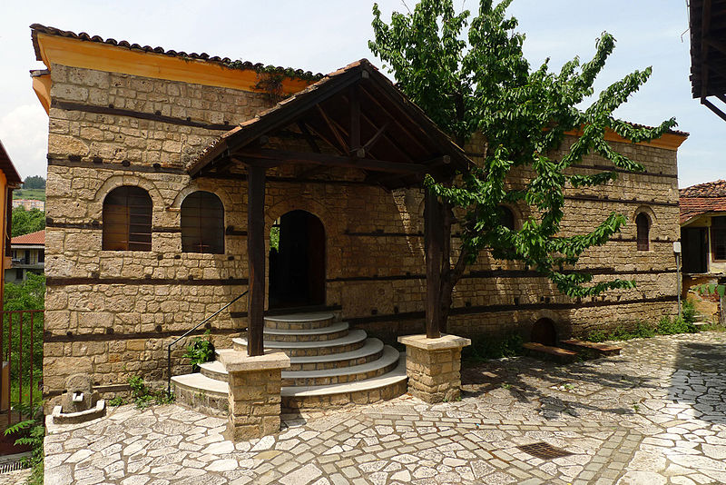 Exterior view of the Romaniote Jewish synagogue of Veria.
