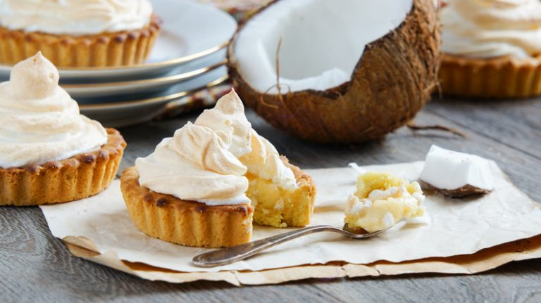 Coconut cream tartlets