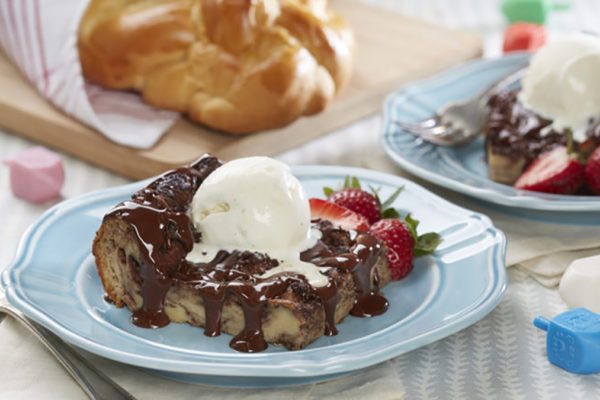 Chocolate Challah Bread Pudding