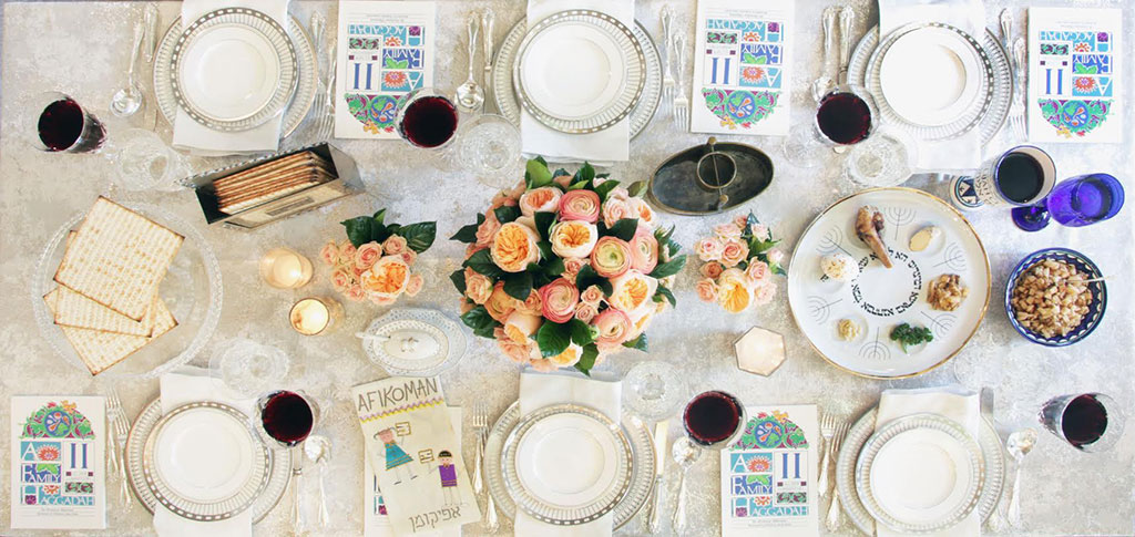 Formal Passover Seder Table