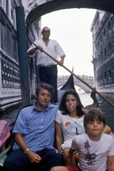 Andy & his parents Venice, Italy