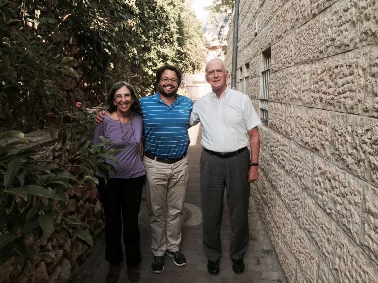 Andy, his Aunt Dr. Ada Goldfarb and Uncle Rabbi Daniel Goldfarb