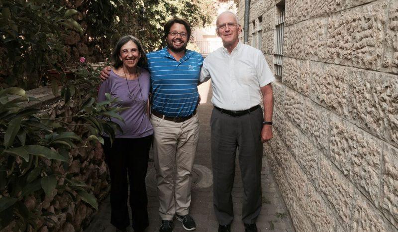 Andy, his Aunt Dr. Ada Goldfarb and Uncle Rabbi Daniel Goldfarb