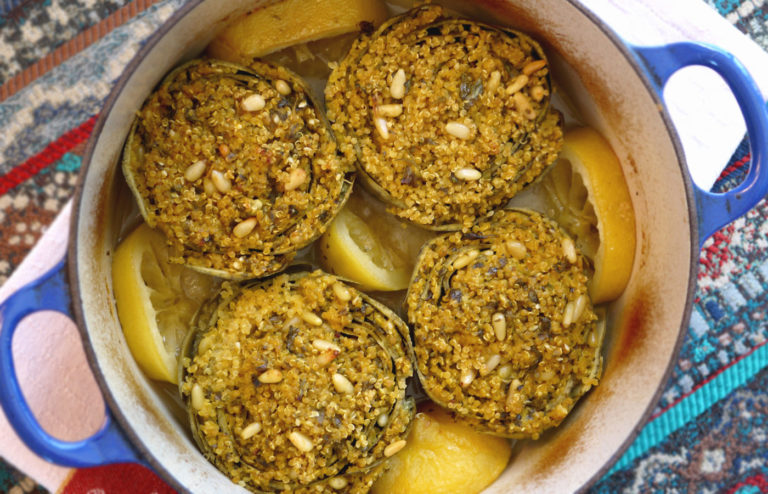 Vegan Stuffed Artichokes