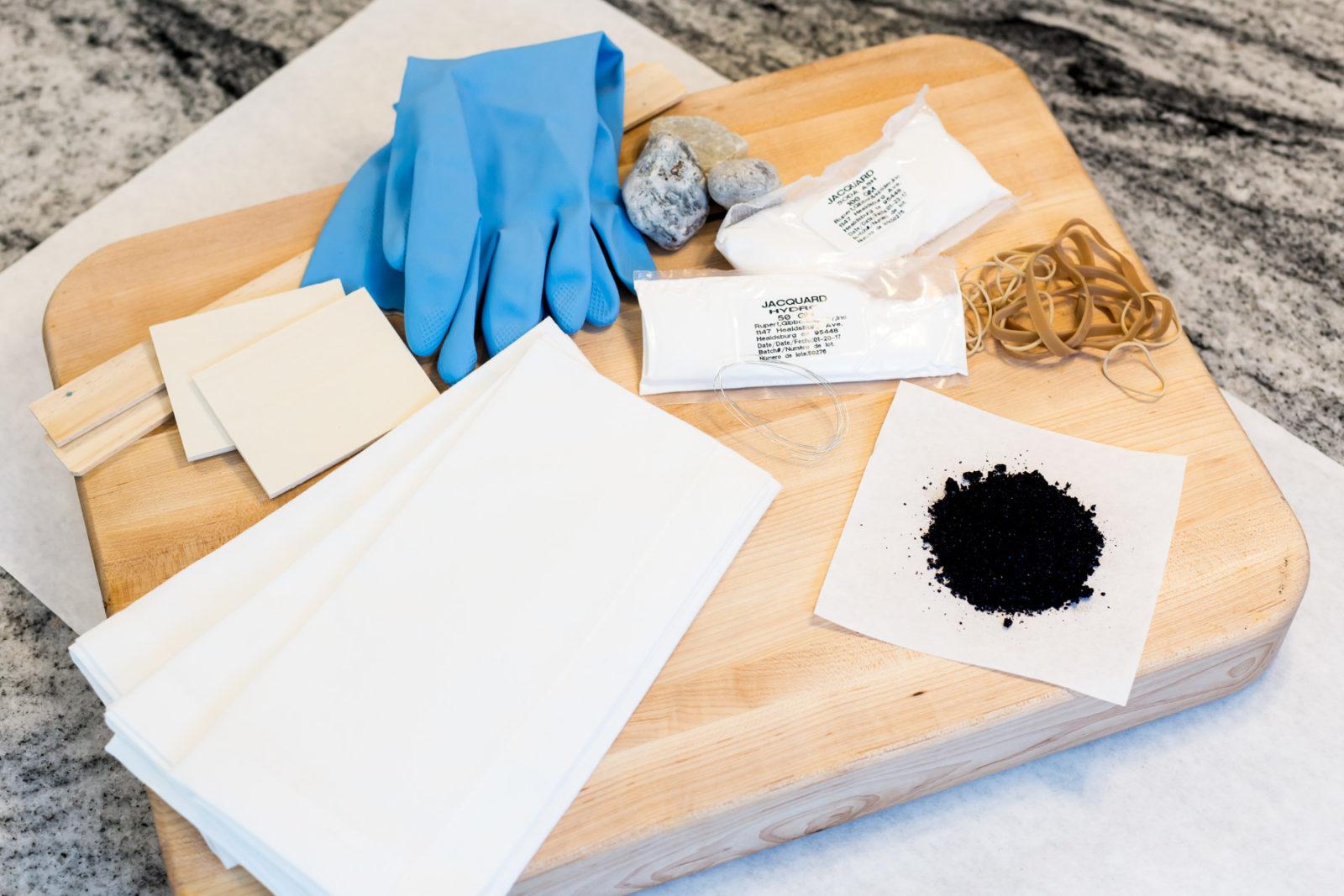 Shibori Challah Cover Materials