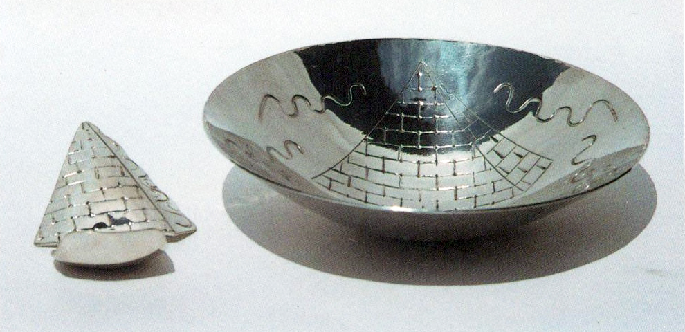 Charoseth Dish and Spoon