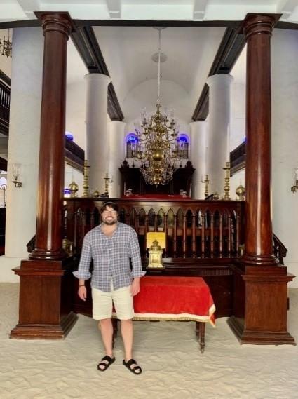 Andy at Curacao Synagogue