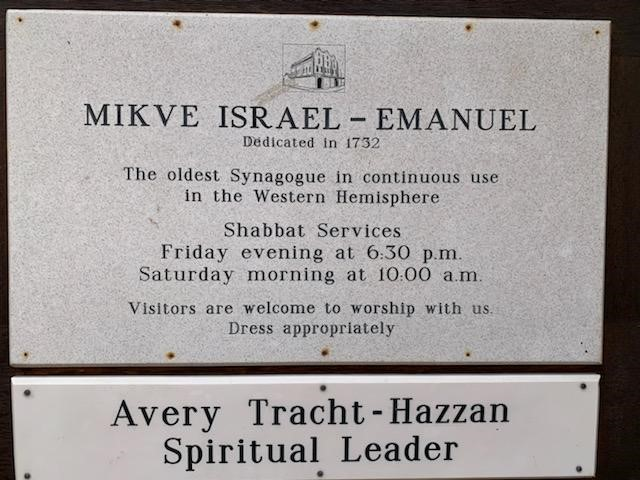 Curacao Inscription Mikve Israel - Emanuel