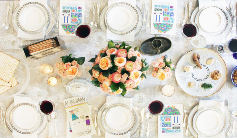 Formal Passover Table