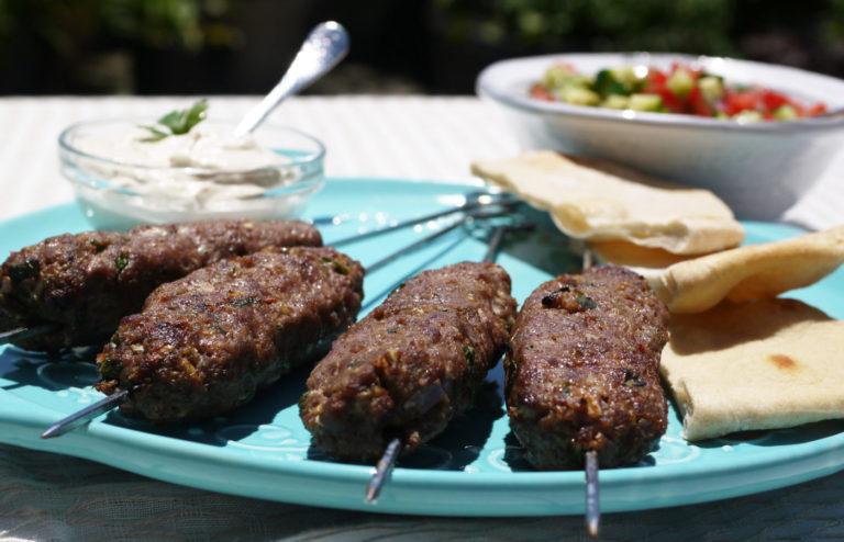 Kafta (Lebanese Lamb Skewers)