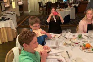 Matzo Eating Contest