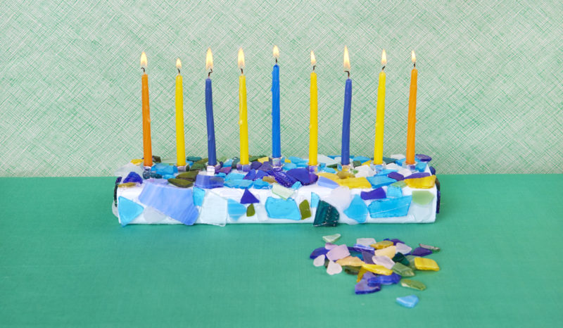 DIY Hanukkah Menorah Final