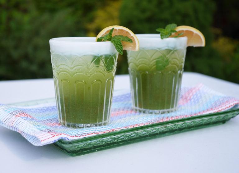 Mint & Rose Water Lemonade