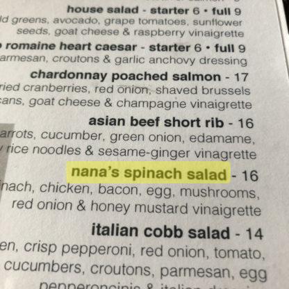 Nana's Spinach Salad