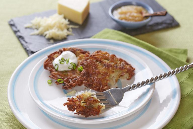 Potato Cheddar Latkes