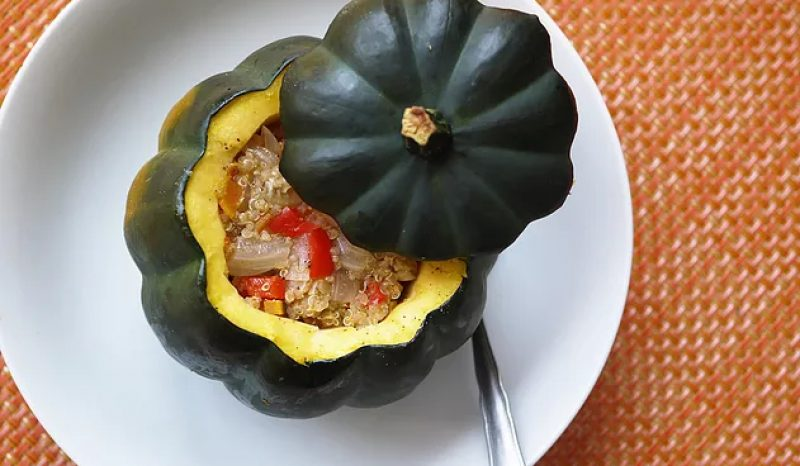 Quinoa & Vegetable Stuffed Acorn Squash