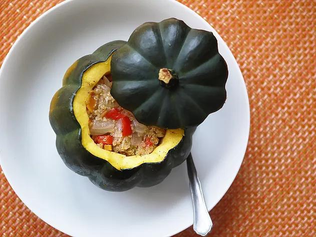 Quinoa & Vegetable-Stuffed Acorn Squash