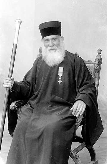 Moshe Pesach, Chief Rabbi of the Romaniote Greek Jewish community of Volos, Greece in 1939.