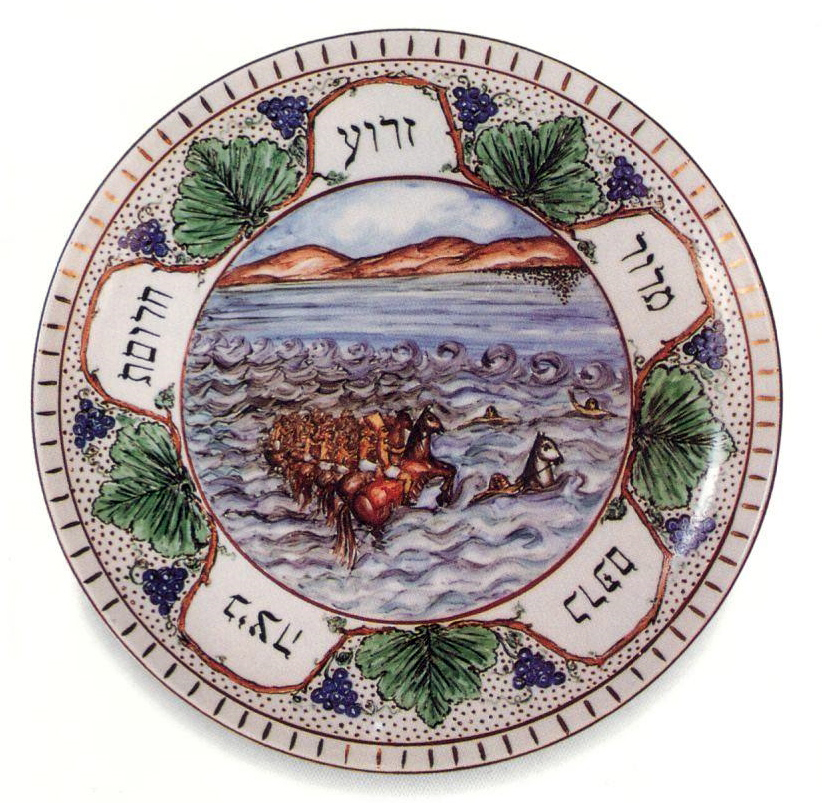 Hand-painted Porcelain Seder Plate