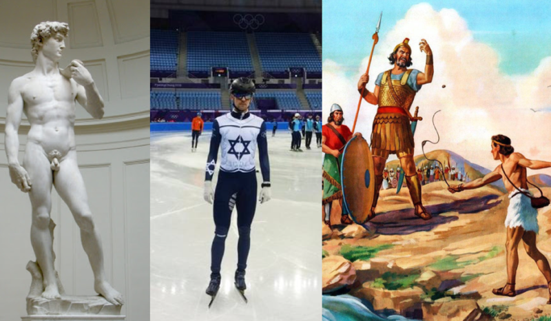 David, Goliath, Speed Skater