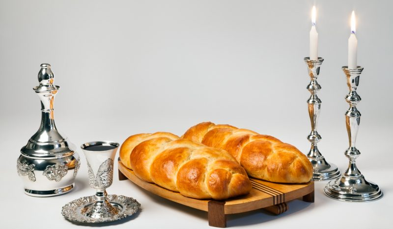 Challah, Wine, Shabbat Candles