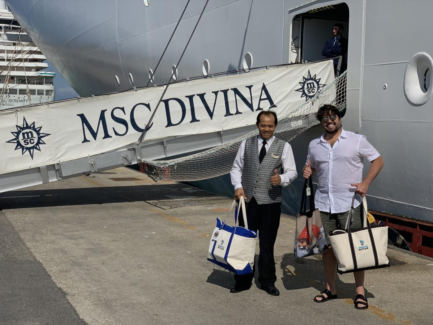 Andy on the MSC Divina