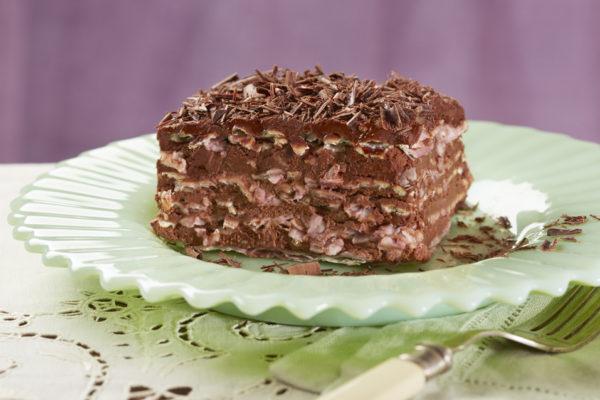 Chocolate Matzo Mousse Cake