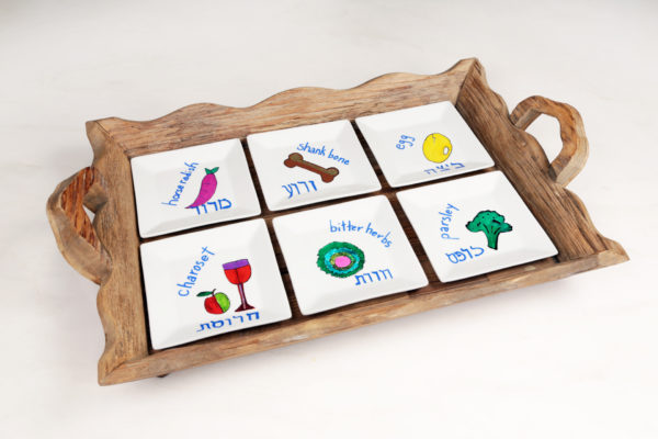 DIY Seder Plate for a Virtual Seder